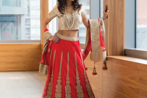 South Asian wedding dress