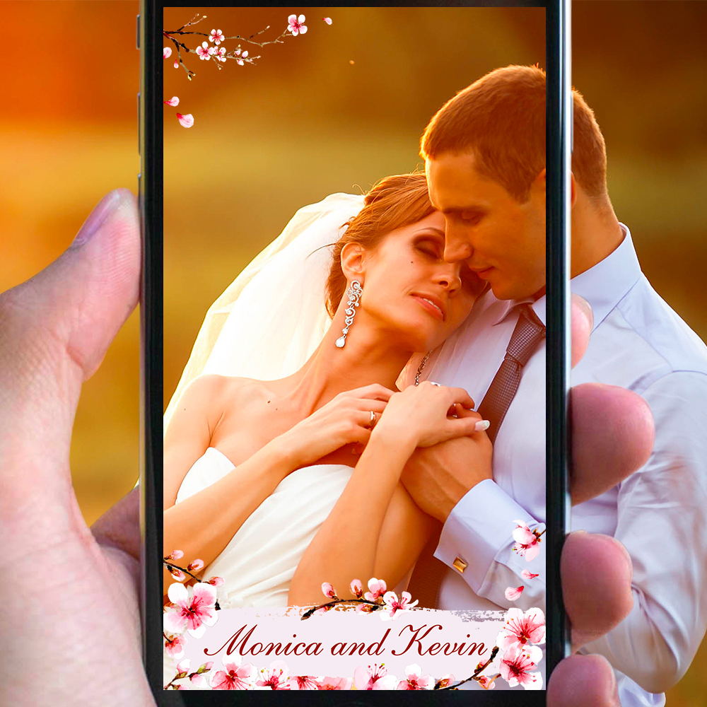 Couples say 'I do' to custom Snapchat wedding filters