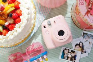 instax camera pink