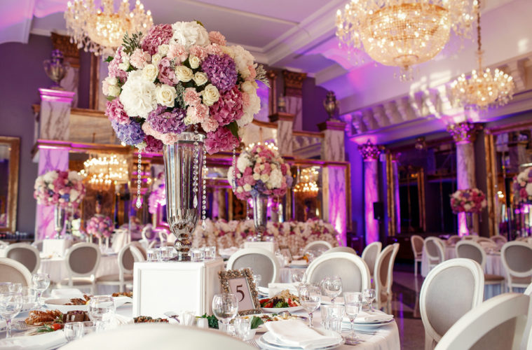 pink and purple venue