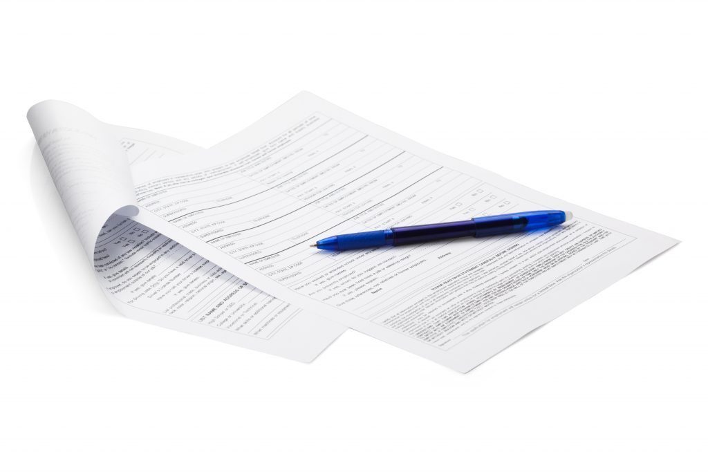 Contracts and forms