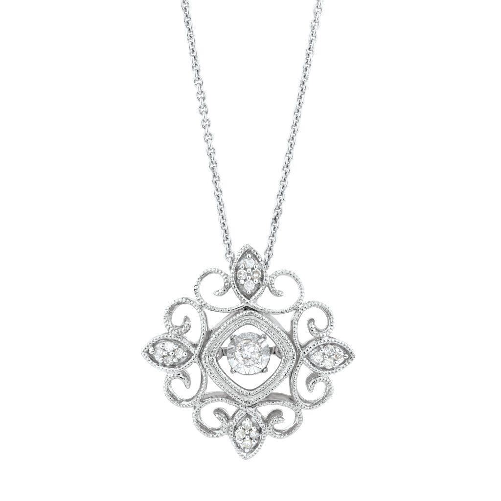MH silver pendant